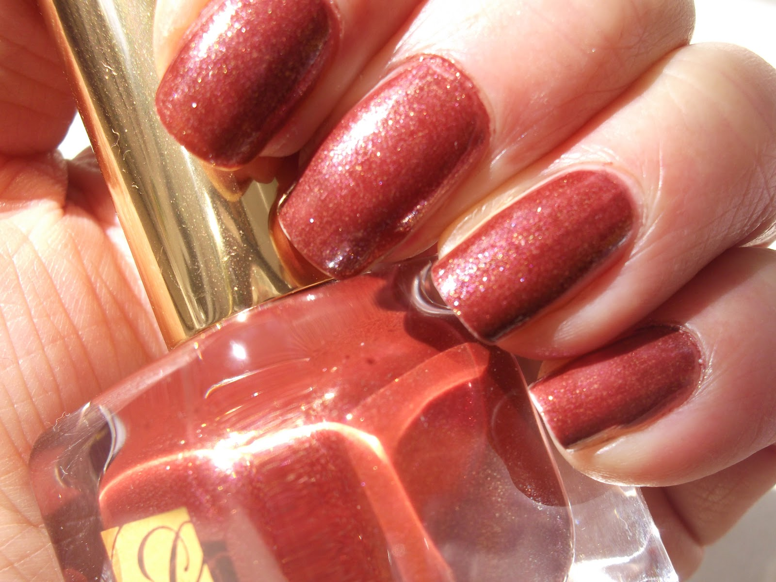 Estee Lauder Fiery Hot Pure Color Nail Lacquer Swatch | British ...