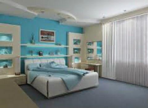 quarto azul- serenidade,sono. Lembra o céu