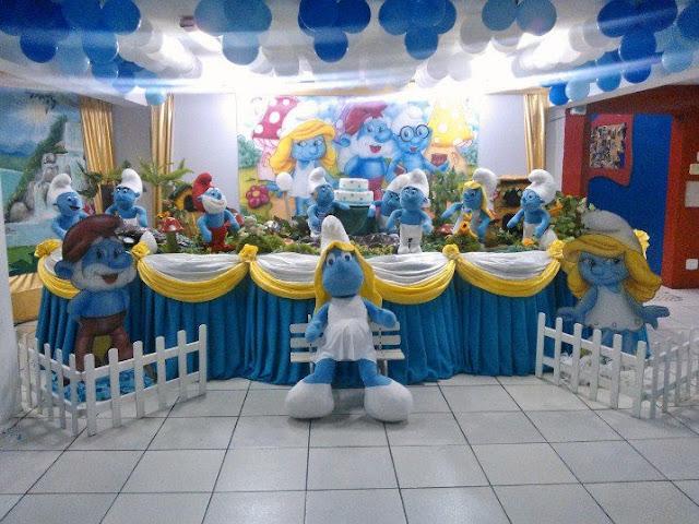 Smurff - decoração infantil para aniversário