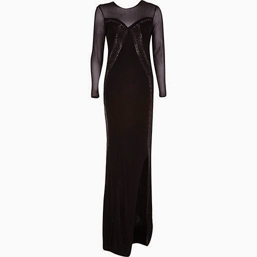 river island black maxi dress, embellished maxi dress,
