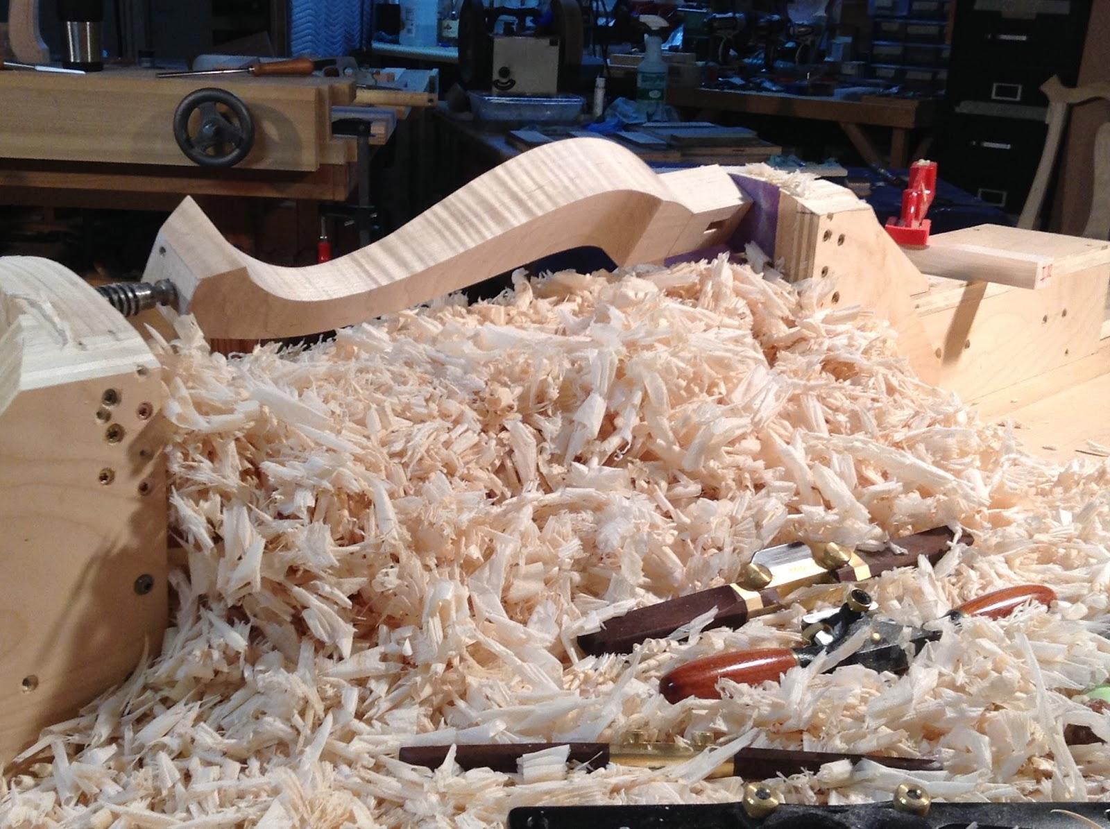 Fine tiger maple chair legs handmade