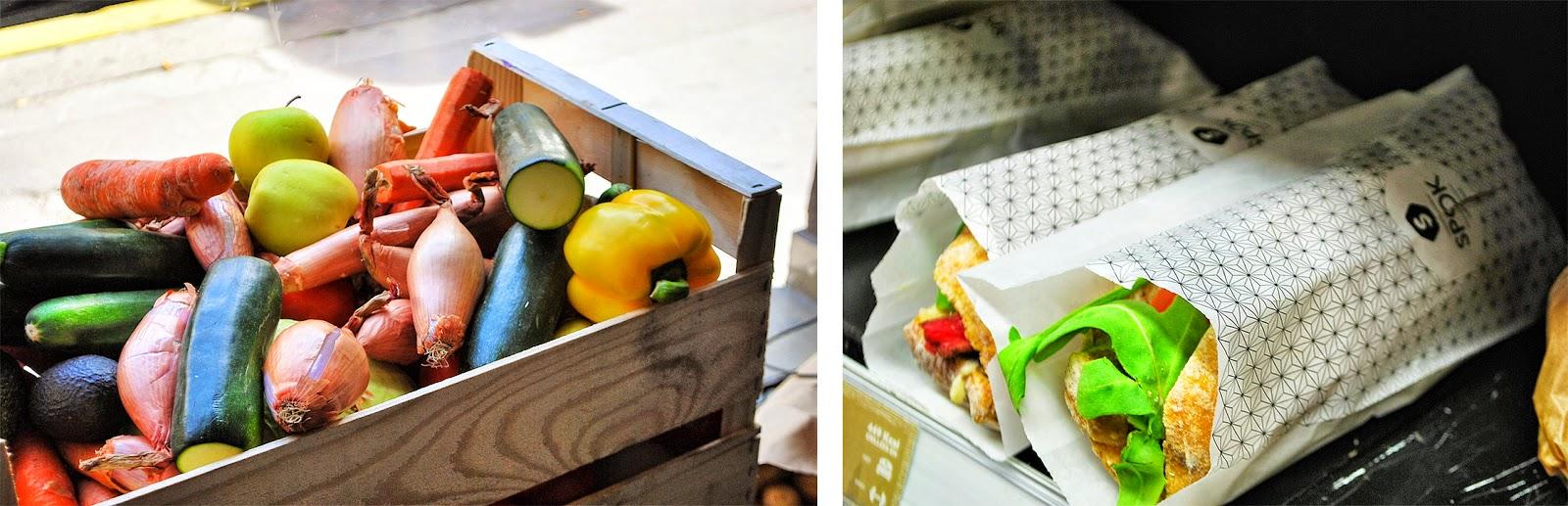 cageot légume spok, produits locaux, sandwichs frais, baguette