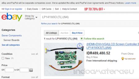 Membeli LCD Controler Board di ebay.com 2