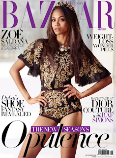 Zoe Saldana on Bazaar Magazine