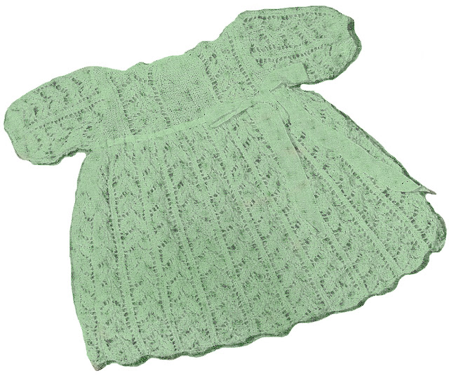 Knitting Pattern Baby Dress : Sentimental Baby: Vintage Knit Patterns for Babies