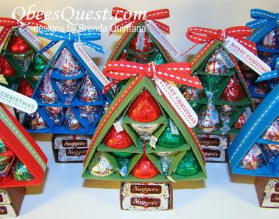 Mini Árvore de Natal feita com dobradura de papel