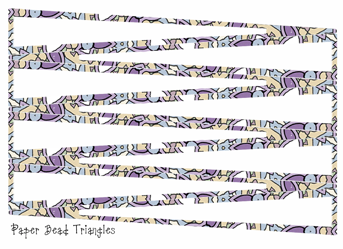 graphic regarding Printable Paper Bead Templates named ArtbyJean - Paper Crafts: Create your individual paper beads with
