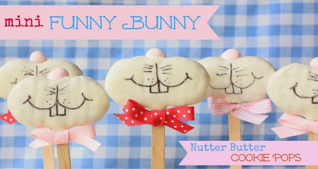 Mini Funny Bunny Nutter Butter Cookies by Munchkin Munchies