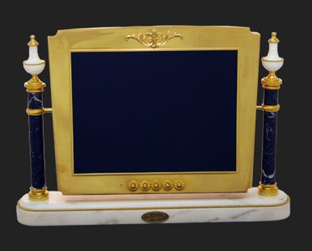 photos of solid gold plated computer monitor by chirita paris