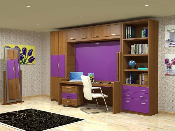 Cama abatible de matrimonio 135cm con escritorio incorporado for Cama nido con escritorio incorporado