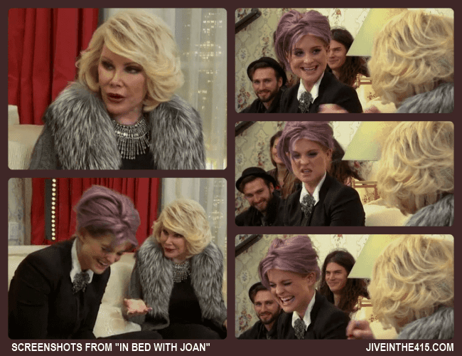 "Screenshots from ""In Bed With Joan"" starring Joan Rivers and special guest  Kelly Osbourne."