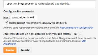 Nueva configuracion de dominios en blogger