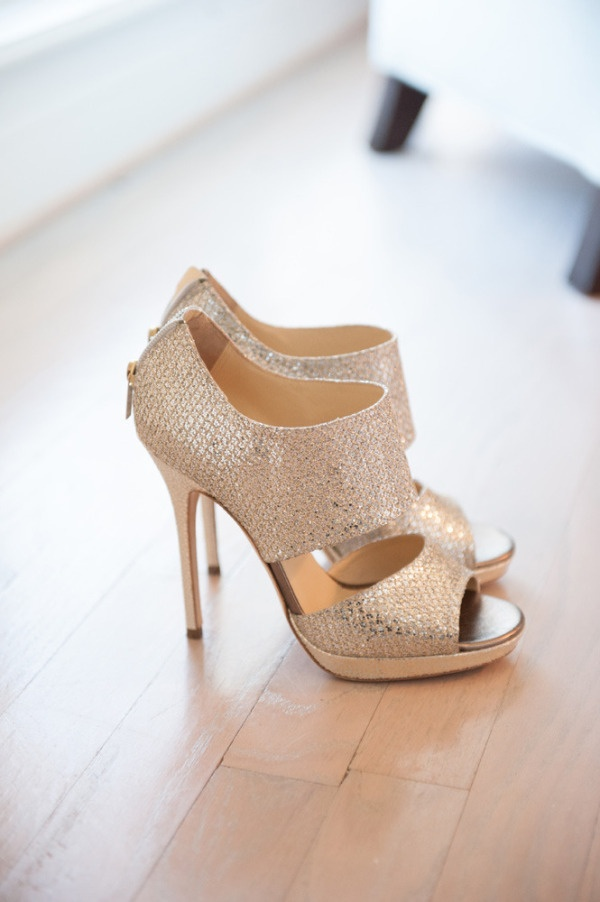 Beautiful High Heeled Wedding Shoes