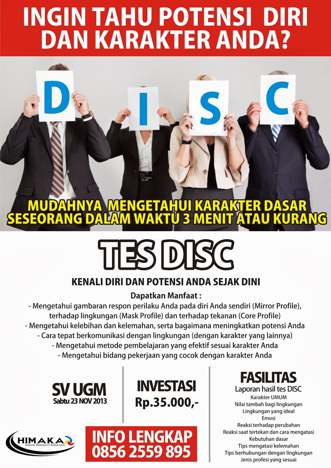 Tes DISC Sekolah Vokasi UGM