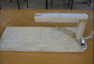 Experimentos Caseros cortadora foam estática