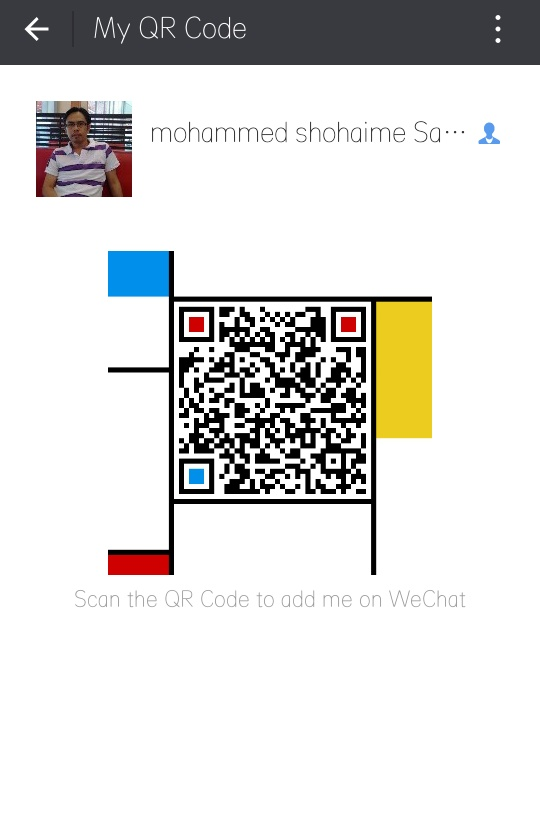 Scan my wechat id