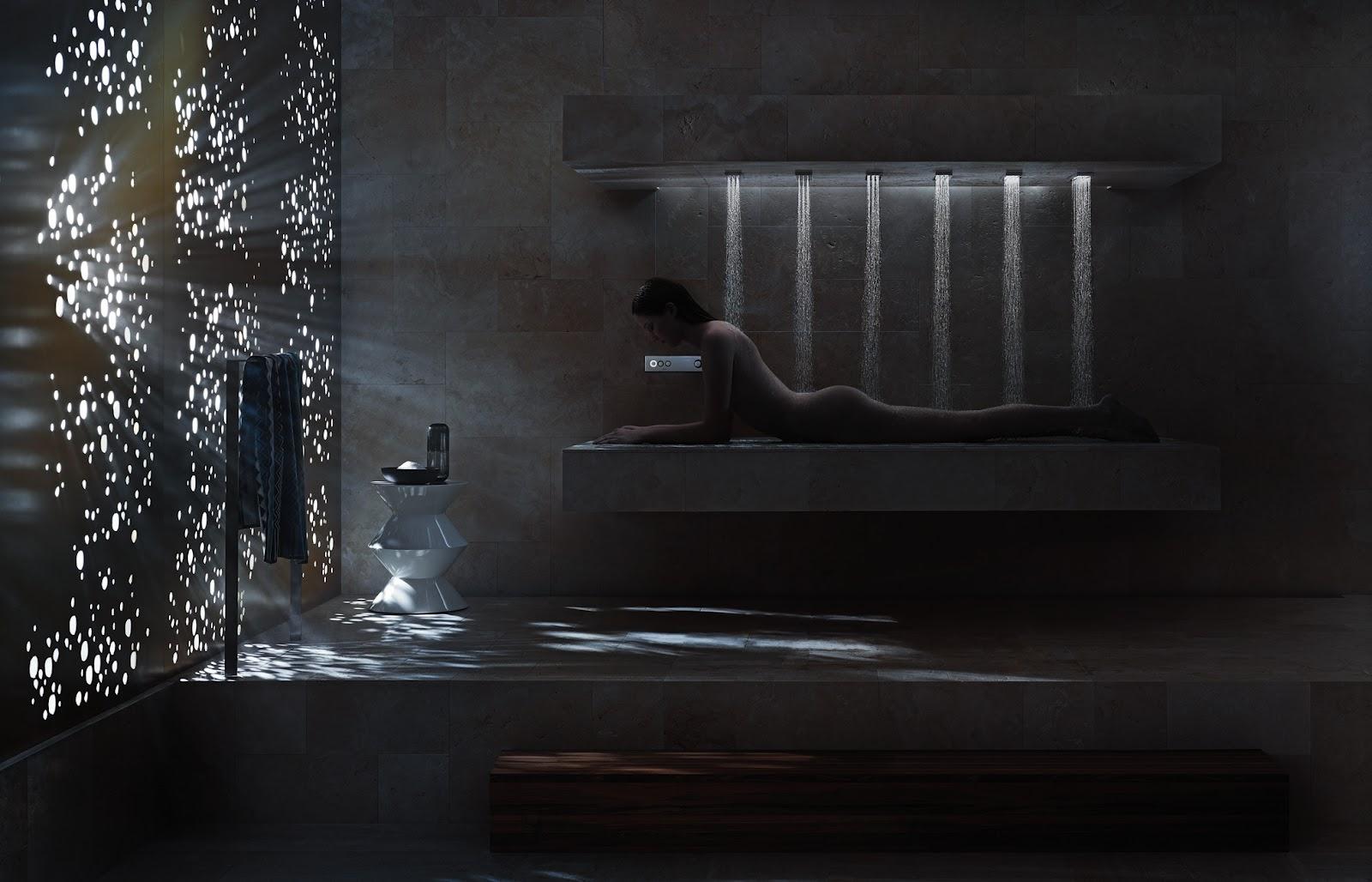 funky friday blog ambiance tuning technique van dornbracht horizontale douche verbreedt de. Black Bedroom Furniture Sets. Home Design Ideas
