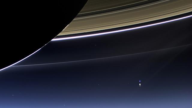Foto da Terra vista do espaço distante