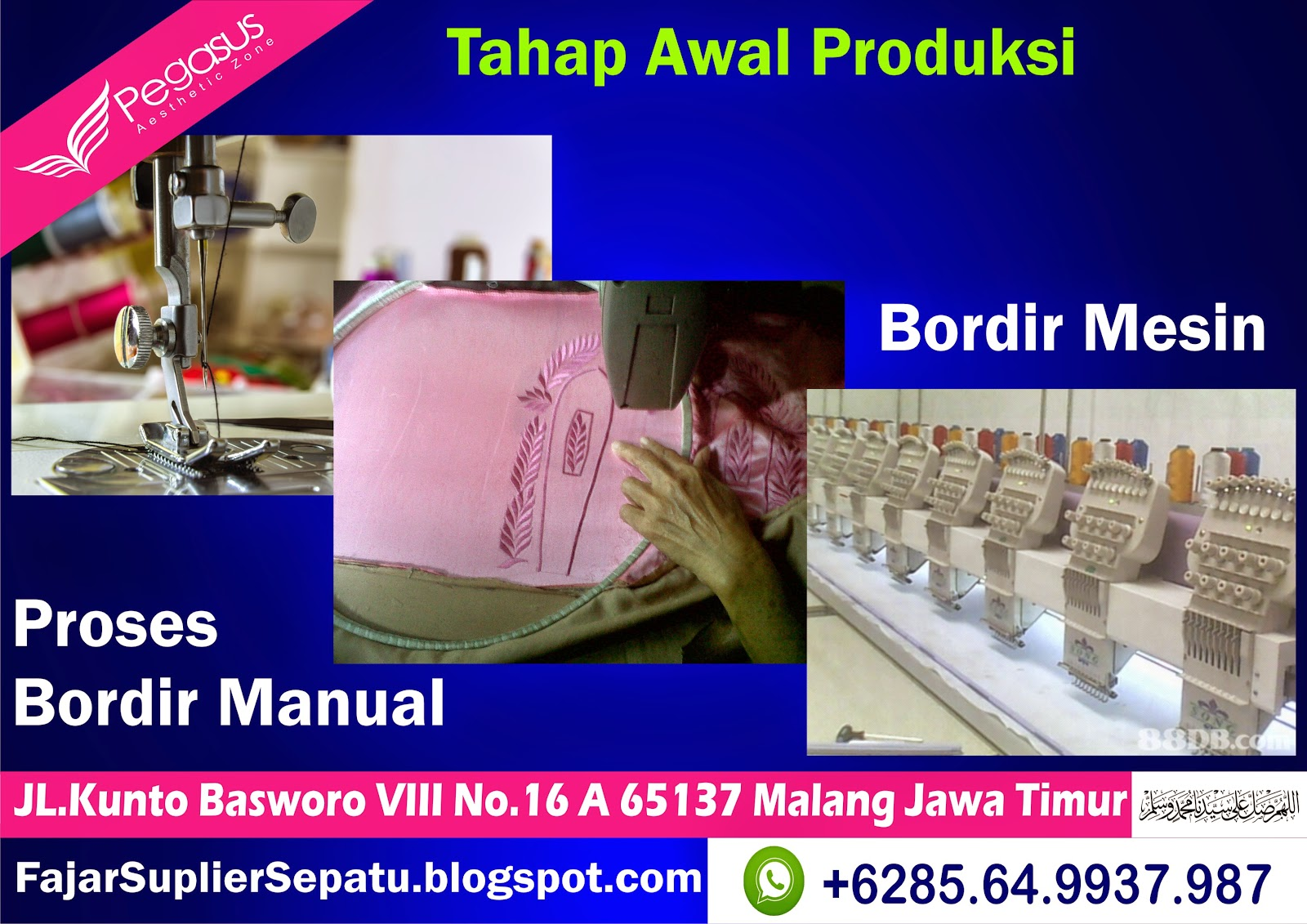 Distributor Sepatu Bordir Murah, Produsen Sepatu Bordir Murah, Pabrik Sepatu Bordir, +62.8564.993.7987