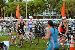 Transition 1, Escape to Miami Triathlon