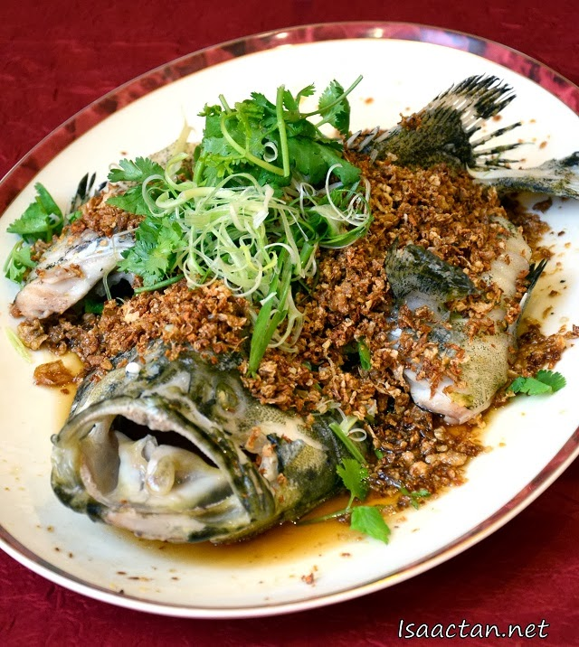 Steamed Red Snapper with Golden Garlic and Superior Soya Sauce