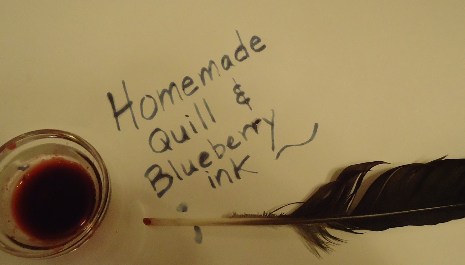 how to make homemade ink for a quill