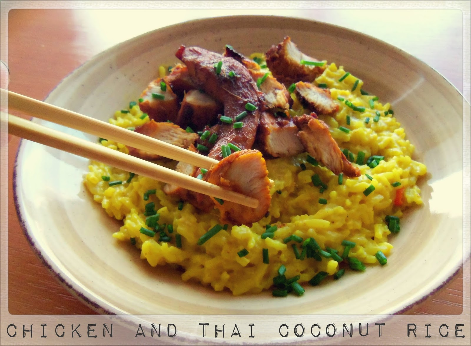 Caramelized Chicken With Coconut Rice