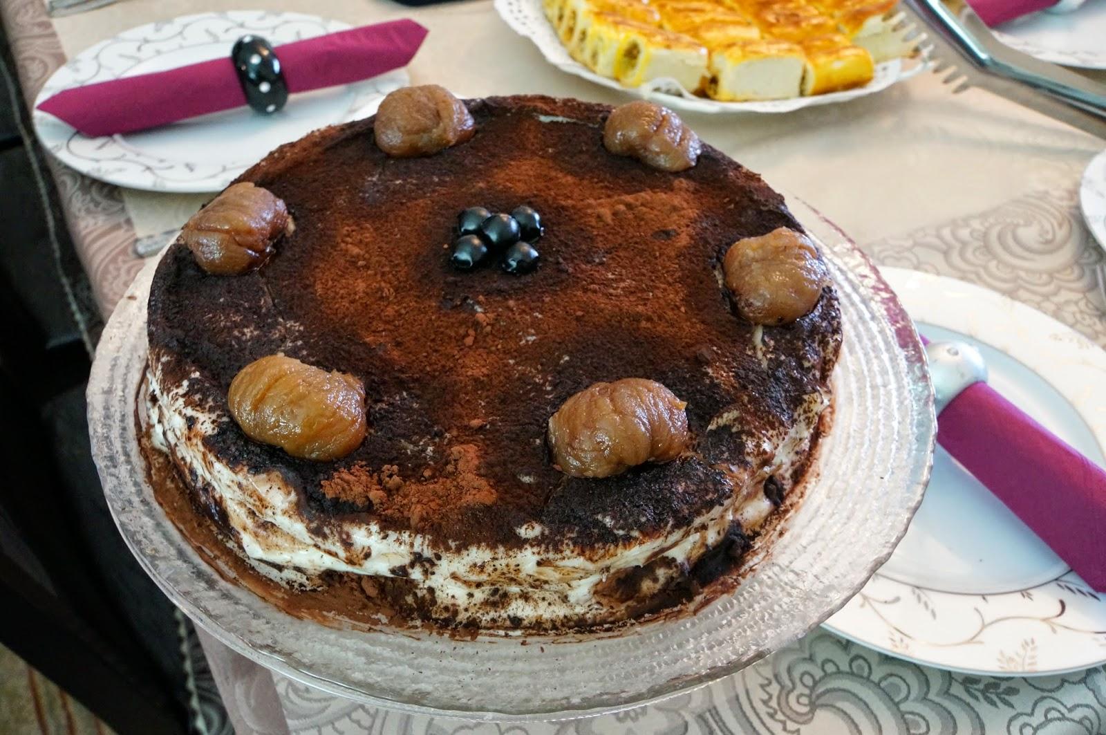 Kestaneli Yaş Pasta