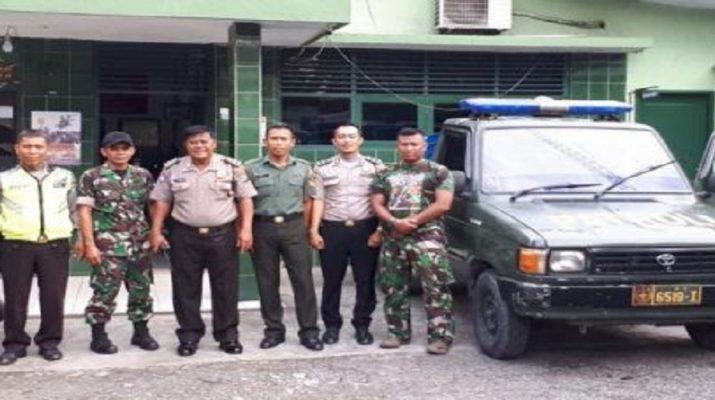 Binmas Polsek Medan Baru Berkunjung Koramil 01/ Medan Barat