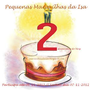 Sorteio no blog Pequenas Maravilha da Isa