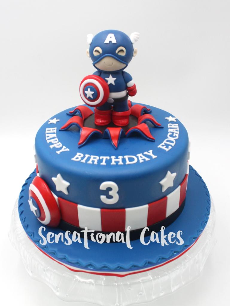 Captain America Birthday Cake Singapore