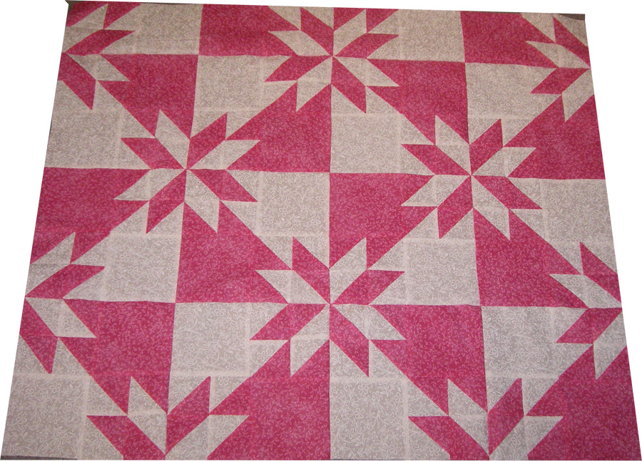 All Things Crafty: Hunter s Star Progress - Baby or Lap Sized Quilt?