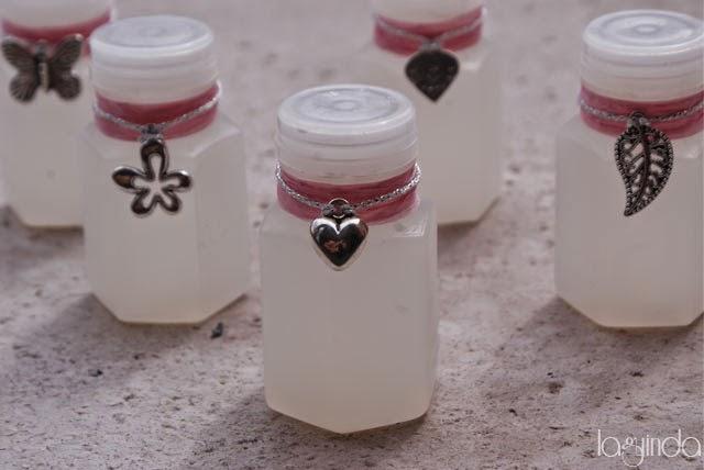 pomperos boda romántica rosa