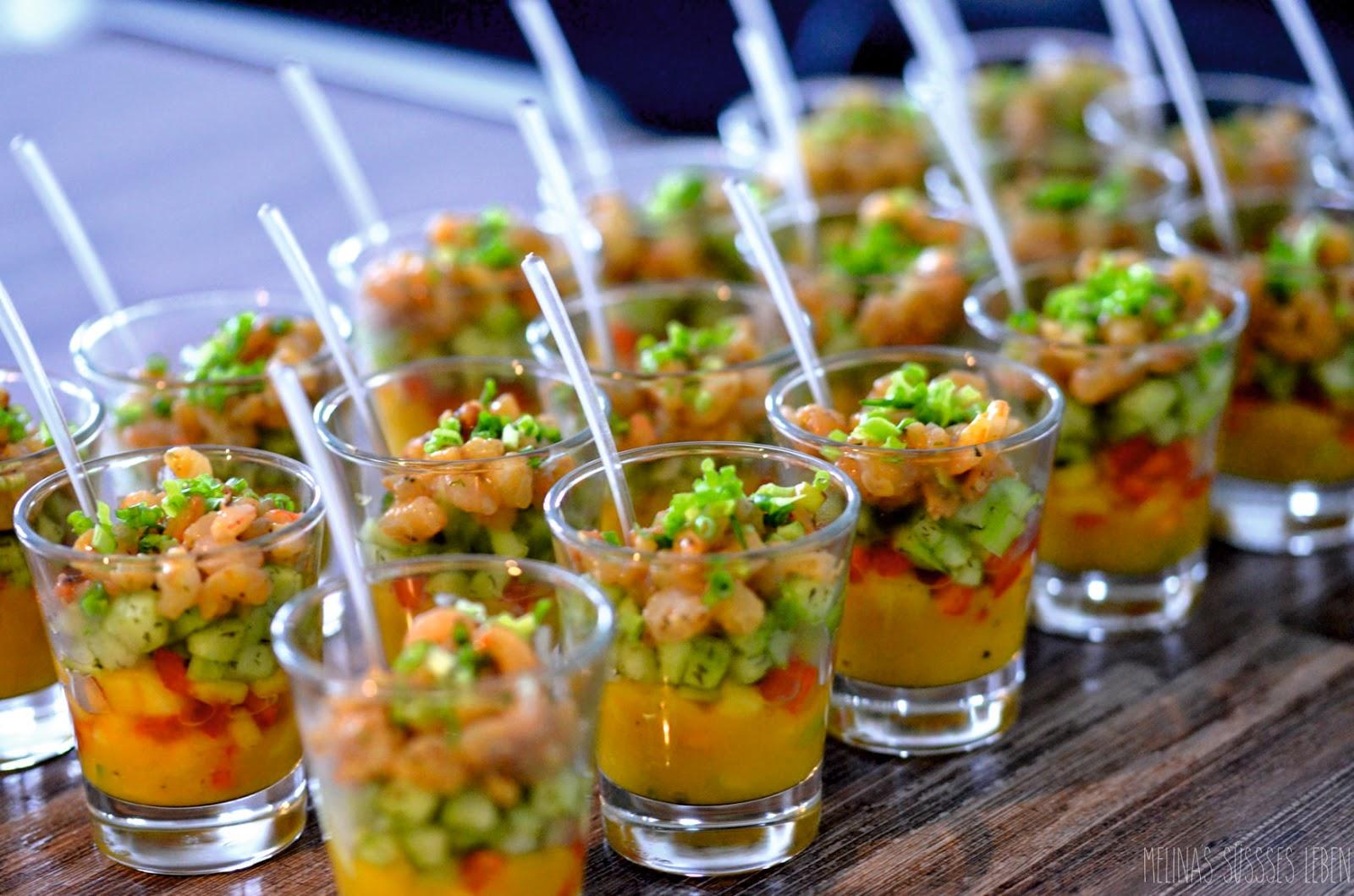 Melinas Süßes Leben Gurken Mango Cocktail Mit Garnelen