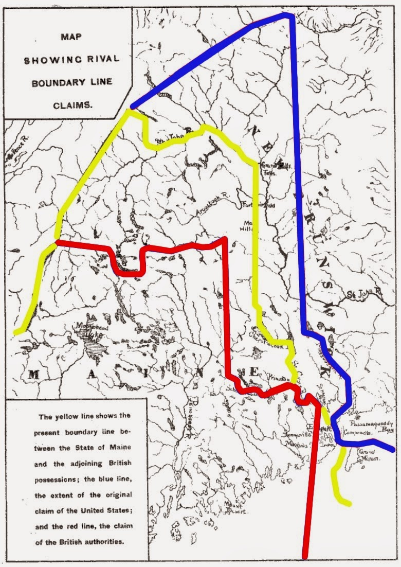Climbing My Family Tree: Disputed borders between New Brunswick and Maine to 1842, when settled