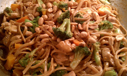 Spicy Thai Peanut Chicken & Noodles