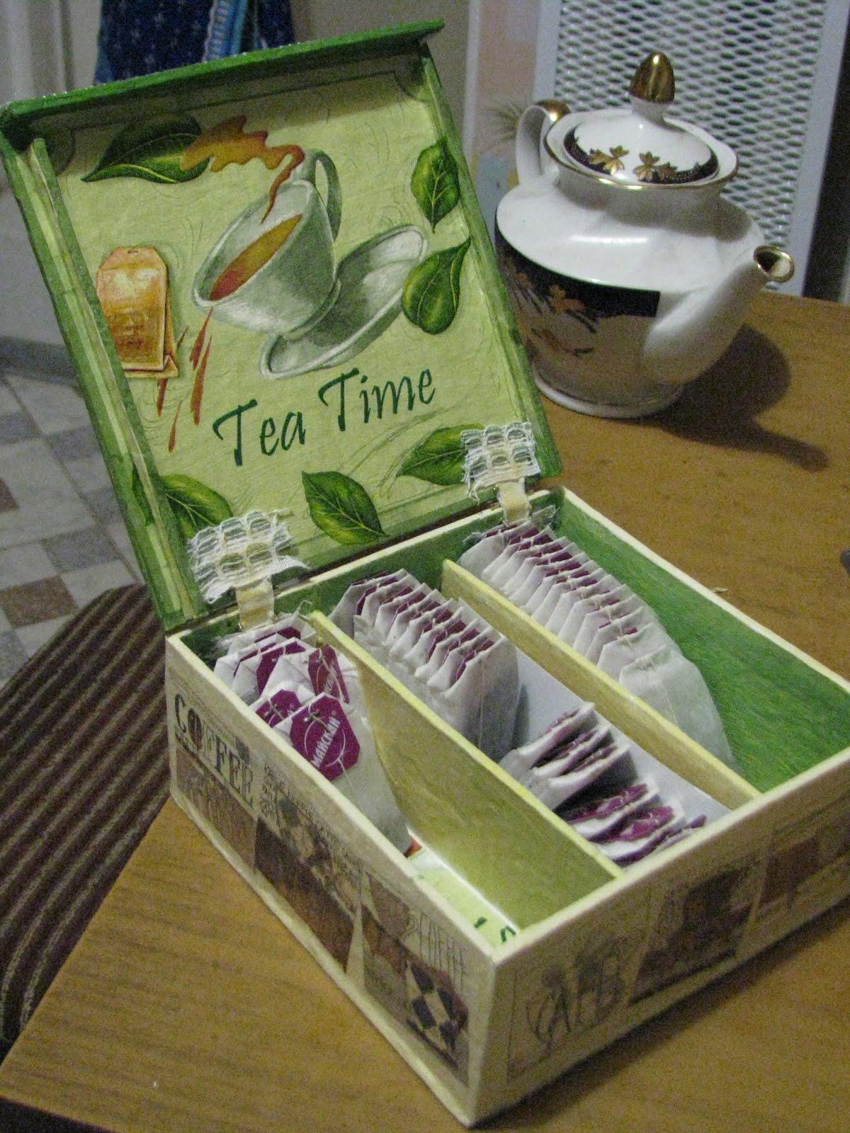 Коробка для хранения чая своими руками