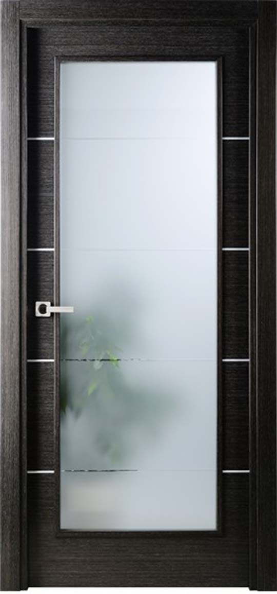 Modern interior bifold doors frosted glass for Interior glass doors