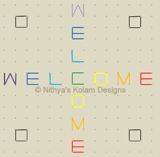 3 Welcome kolam Dots 14 x 14