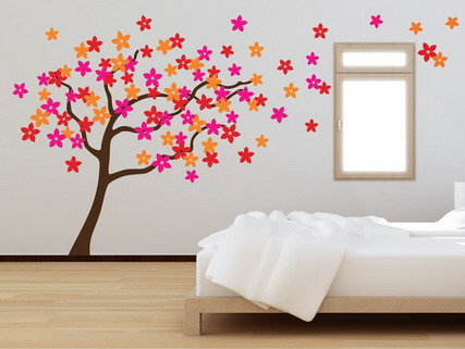 Home style wallpapers teenagers Painting graffiti on bedroom walls