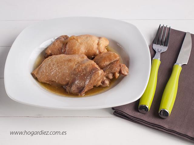 Pollo con salsa de soja