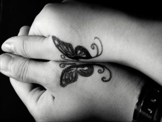 Two Hands for Butterfly Tattoos Image