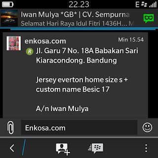 gambar screen shot testimoni dan alamat lengkap Iwan Mulya di enkosa sport