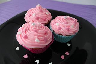 Cupcakes de fresa.