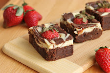 GoatCheese Swirl Brownies