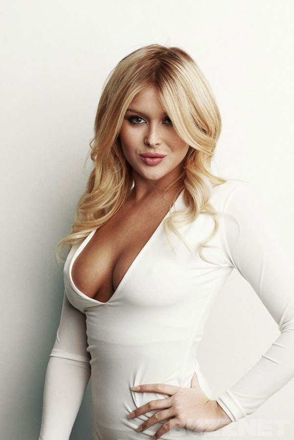 Renee Olstead in a tight white dress that reveals her sexy hot stuff, Buzznet Photoshoot 2012