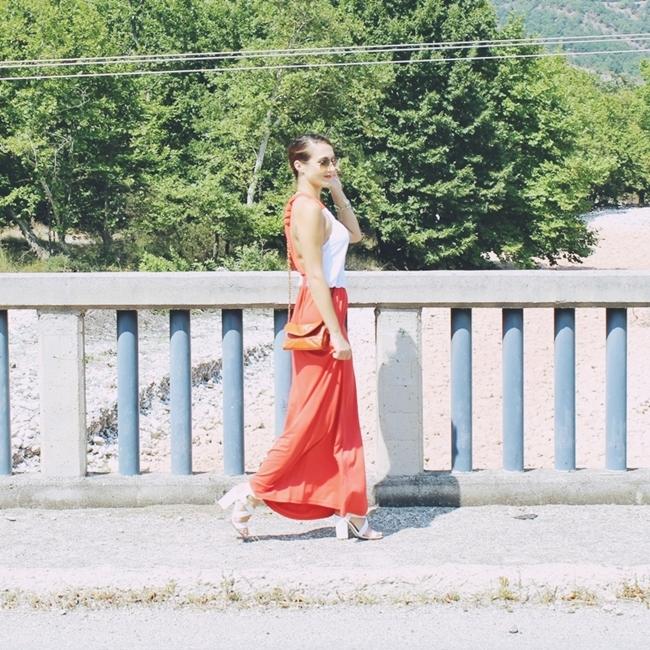 Jelena Zivanovic Instagram @lelazivanovic.Glam fab week.Outfit Sunny orange & snowy white.