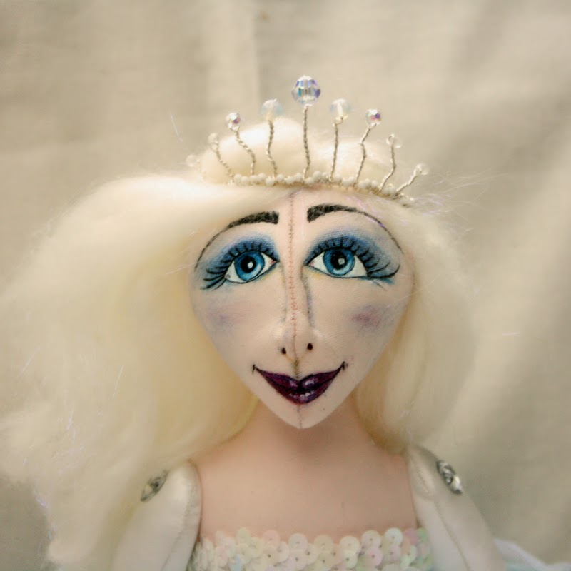 icy queen art doll