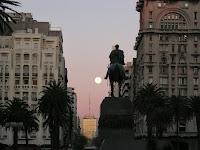 Luna Atardecer Paisaje Urbano