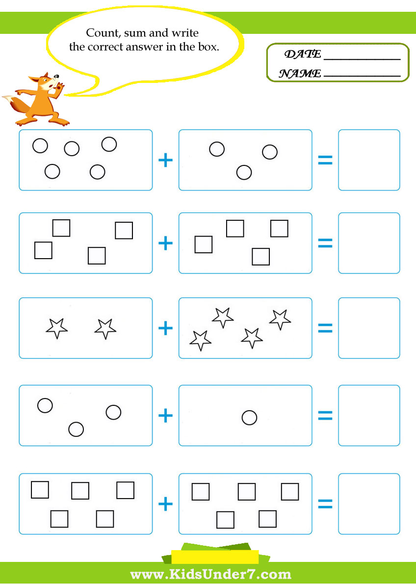 Math Worksheets for Addition, Subtraction